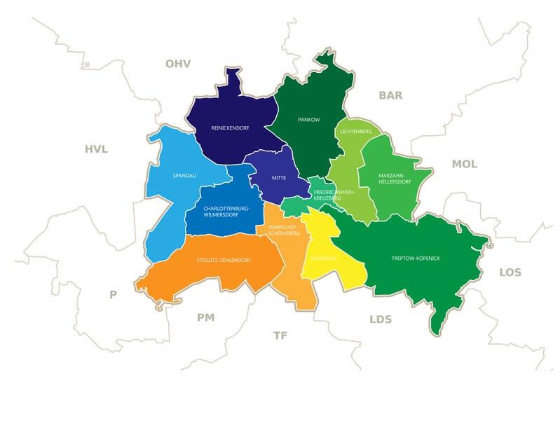 Karte von Reinickendorf